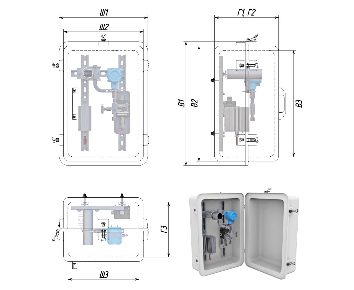 Термошкафы стеклопластиковые РизурБокс-С (RizurBox-C) «Мульти»