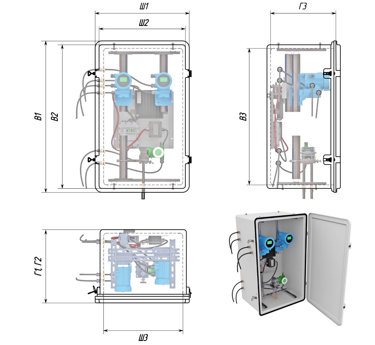 Термошкафы стеклопластиковые РизурБокс-С (RizurBox-C) классического раскрытия
