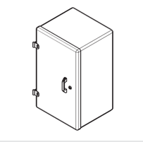 Термошкаф стеклопластиковый диагонального раскрытия типа РизурБокс-С