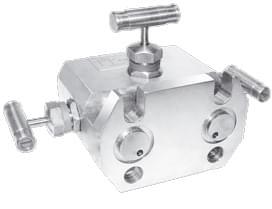 Трехвентильный клапанный блок серии В