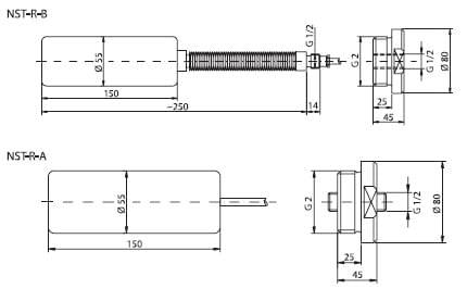 Габаритный чертеж NST-R